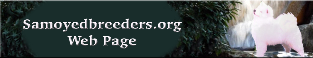 banner logo for www.samoyedbreeders.org Web Page